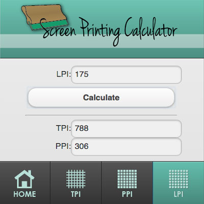 Screen Printing Calculator